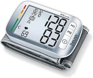 Beurer BC50 - Tensiómetro de muñeca, indicador OMS, memoria 2 x 60 mediciones, gris (657.07)