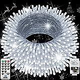 Hezbjiti Navidad Guirnalda Luces, 120m 1000 Led Luces de Cadena 8 Modos Luces de Hadas para Interior Exterior Casa Fiestas...