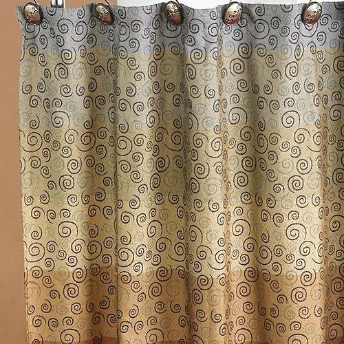 "Popular Bath Shower Curtain, Miramar Collection, 70"" x 72"", Multicolor"