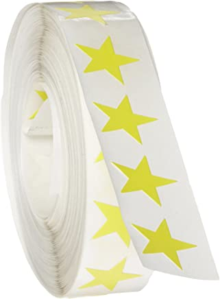 """Roll Products 119-0053 Adhesive Star Label, 3/4"""" Diameter, For Inventory and Marking"""