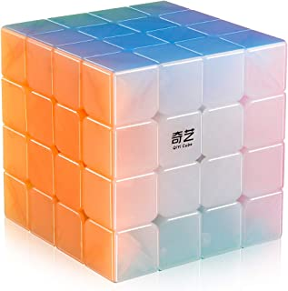 D-FantiX Qiyi Qiyuan S 4x4 Speed Cube Stickerless 4x4x4 Qiyi Jelly Cube Puzzle
