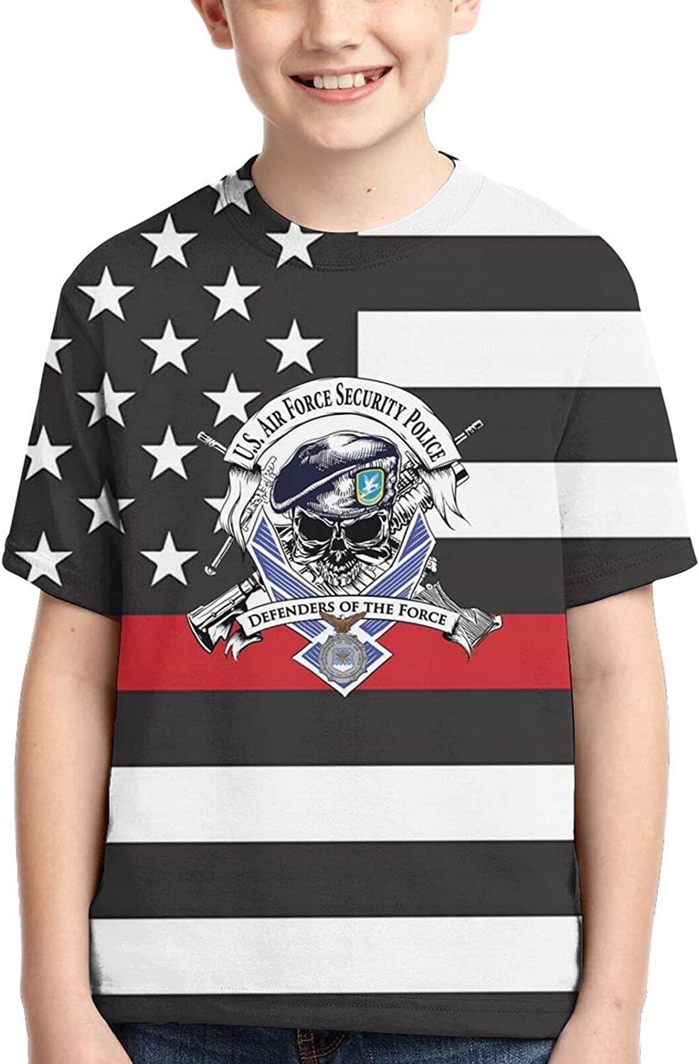 Daoaomaoyi I Defensor Fortis Air Force Security Force Boys 3D Children Tshirt Tee Soft Casual