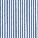 100% Baumwolle Stoff | Streifen - Marineblau und weiβ |
