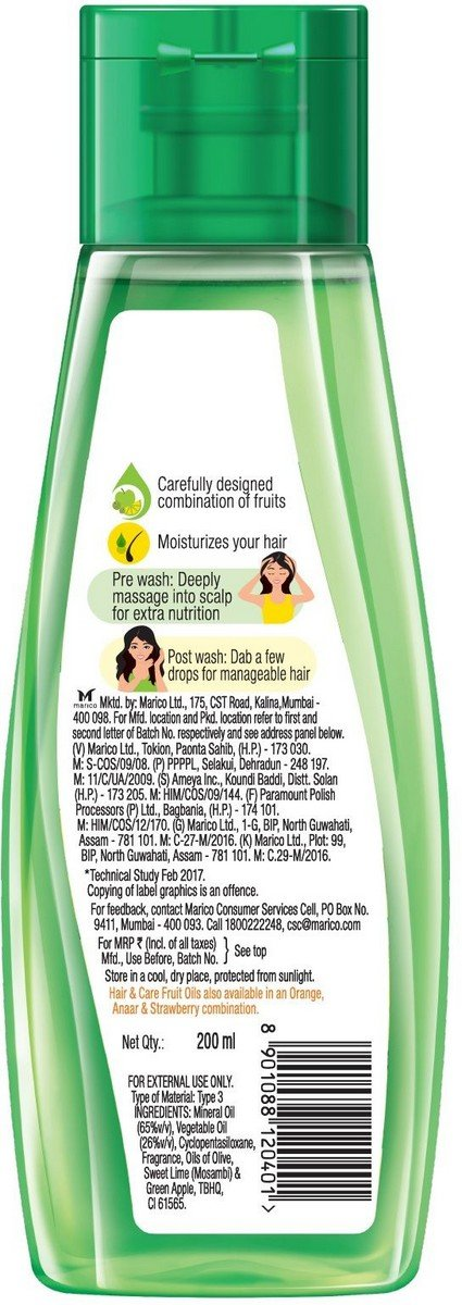 Buy Hair Care Fruit Oils Green 200 Ml Online At Low Prices In India Amazon In