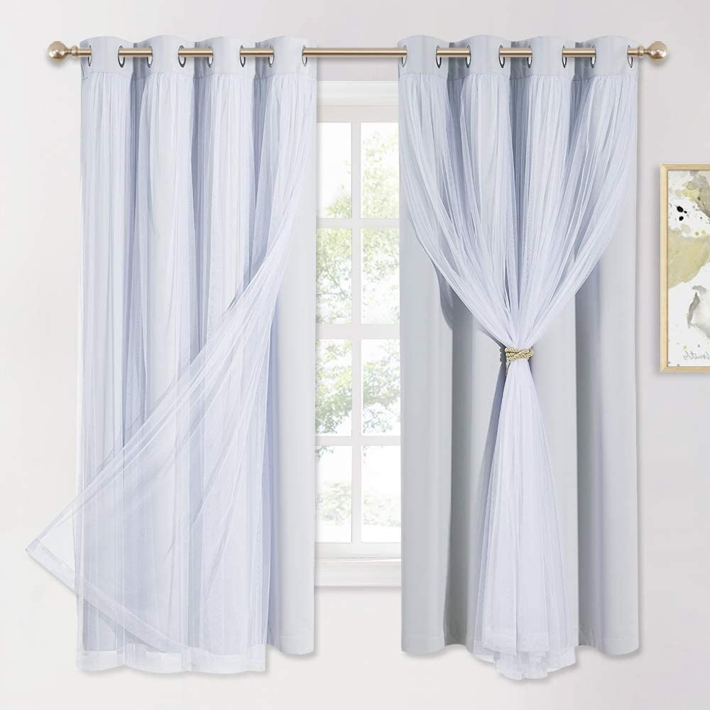 PONY DANCE White Blackout Curtains 63 - Recommended with Sheer Manufacturer direct delivery Inch