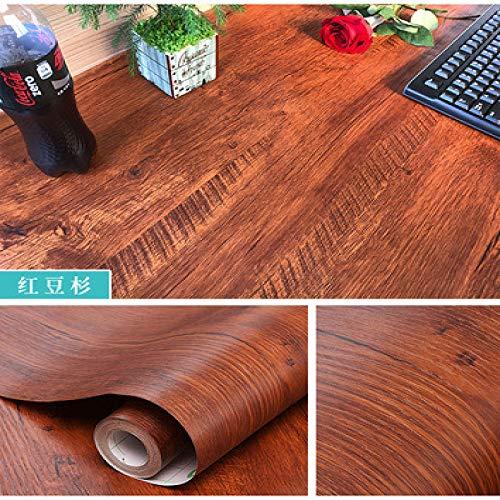 lsaiyy Selbstklebende Tapete Dicke Holzmaserung Aufkleber Garderobe Möbel Renovierung Aufkleber Tür und Fenster Couchtisch Schreibtisch