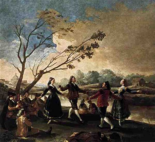 Goya Francisco De Dance Of The Majos At The Banks of Manzanares A4 10x8 fotoposter
