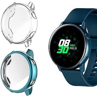 Jvchengxi Funda Protectora para Galaxy Watch Active, Cubierta Protectora de Marco a los rasguños TPU Protector de Pantalla...