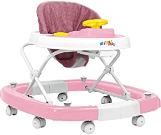 Andador Balanço Carro Sonoro Rosa - Styll Baby