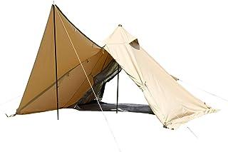 BUNDOK(バンドック) ソロ ティピー 1 TC BDK-75TCSB 【1人用】 サンドベージュ ワンポール テント 混紡綿 フルクローズ スカート巻き上げ式
