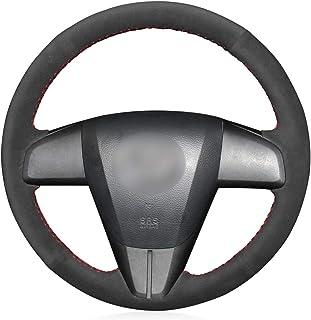 MEWANT Funda de cuero para volante para Mazda 3 Axela 2010-2013 Mazda 5 Mazda 6 CX-7 CX-9 Mazda 3 (US) / Accesorios de vol...