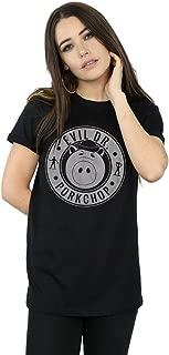 Women's Toy Story Evil Dr Pork Chop Logo Boyfriend Fit T-Shirt