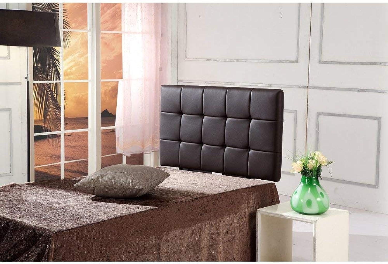 PU Leather Single Bed Deluxe Headboard BedHead - Brown