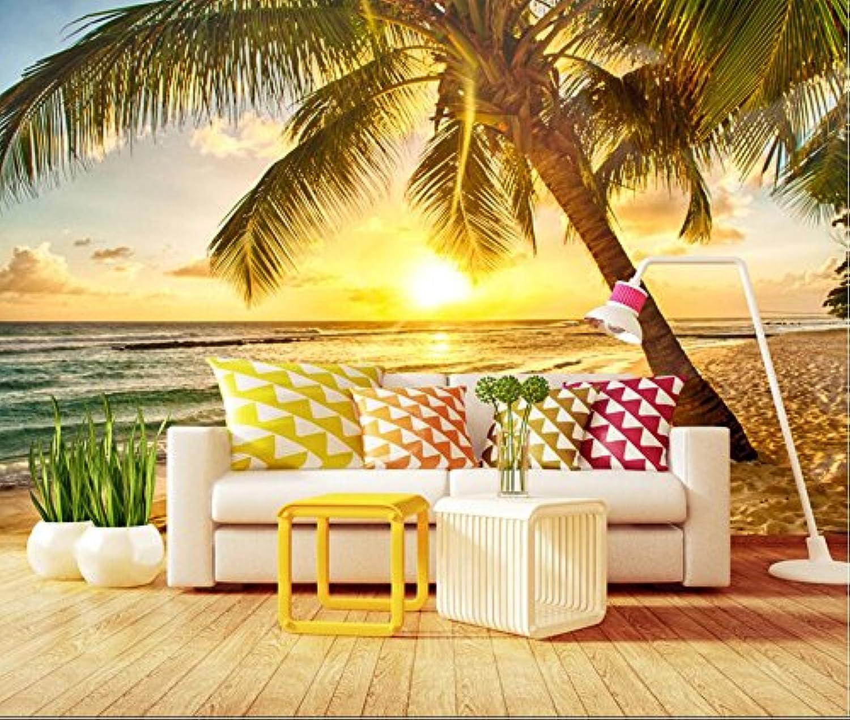 Yosot Paisaje De Playa Puesta De Sol De Coco Palm Beach Fondo Parojo Personalizado Gran Fresco 3D Papel pintado-200cmx140cm