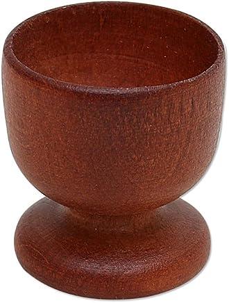 Preisvergleich für Holz Kunst Handwerk EU Holz Eierbecher braun 45 x 45 x 5 cm