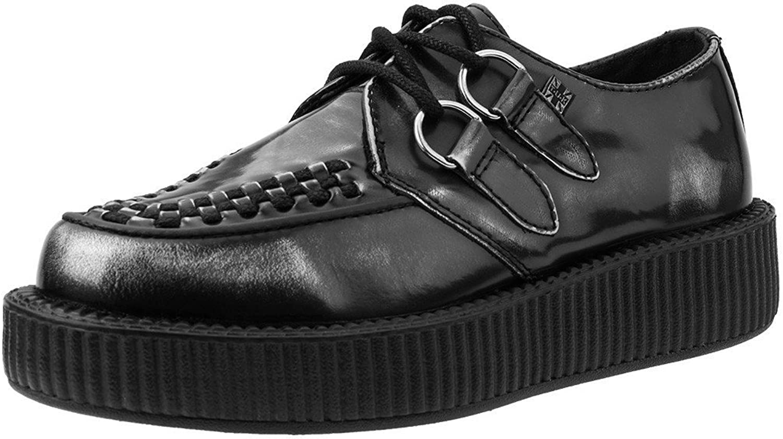 T.U.K. shoes V9175 Unisex-Adult Creepers, Grey Rub Off Leather Creeper