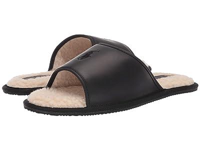 Polo Ralph Lauren Antero Slipper (Black Leather) Men