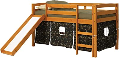 Chelsea Home Furniture 3645000-C Twin Tent Bed with Slide, 46