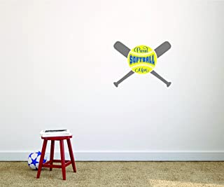 Design with Vinyl Moti 2695 1 Decal - Peel & Stick Wall Sticker : Proud Softball Mom Sports Son Daughter Boy Girl Teen Color: As Seen Size 12 Inches x 12 Inches