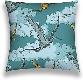 Pretty bb Throw Pillow Cover Pillowcase Pteranodon Dinosaur Sky its Habitat Jurassic Cretaceous Animal Flying Prehistoric Dino Beautiful Sofa Home Decorative Cushion Case 18