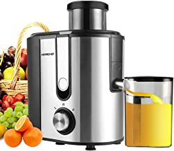 ?New Version?Centrifugal Juicer Machine, HERRCHEF 600W Compact Juice Extractor, BPA Free Dual Speeds Stainless Steel Juice Maker for Fruit and Vegetables, Detachable and Easy to Clean Orange Juicer (Small)