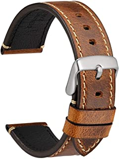 18mm 20mm 22mm 24mm Watch Band - Premium Saddle Style Vintage Leather Watch Strap
