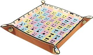 BestIdeas Panier de rangement carré de 20,5 × 20,5 cm, avec joli motif gribouillage, boîte de rangement sur table pour la ...