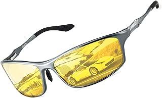 SOXICK Night Driving Glasses Anti Glare Polarized Night Vision Glasses for Driving Men Women