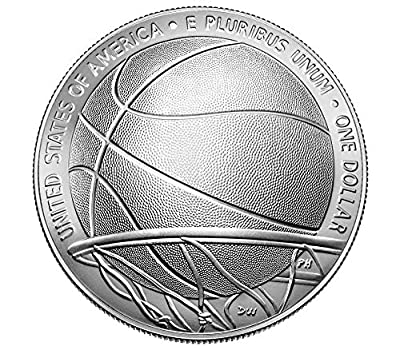 2020 P Basketball Hall of Fame Uncirculated Silver Dollar Mint Packaged