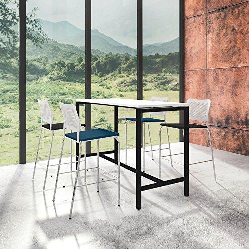 Weber Büro Stehtisch NOVA 160 x 70 cm groß Hochtisch Bartisch Tresentisch Theke, Gestellfarbe:Schwarz