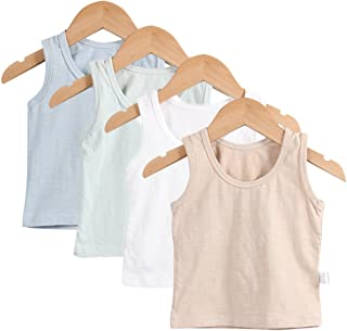 Baby Boys Tank Tops with Sleeveless T-Shirts Undershirt Cami Shirts for 0-36 Months Infant Toddler Kids(4Pack)