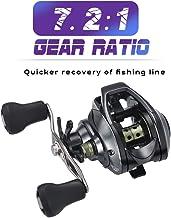 BAODANH Carrete de Pesca para Pesca de Trucha Derecha o Izquierda 19 + 1BB 7.2:1 Carrete magnético y Doble Freno centrífugo Carretilha de Pesca