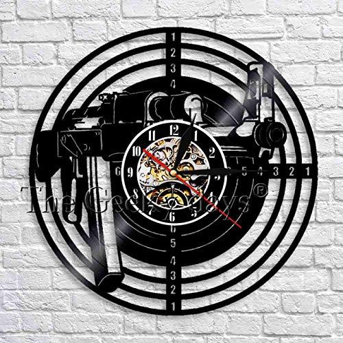 KEC Pistola de Tiro Vinilo Reloj de Pared Armas Pistola Arte...
