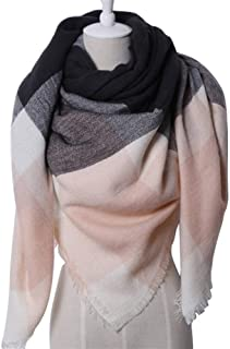 Triangle Scarf Unisex Autumn Winter Acrylic Scarf Air Conditioning Shawl,Perfect Accent to Any Outfit (Color : 06, Size : 140 * 140 * 190cm)