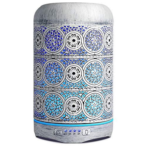 SALKING 260ml Difusor Aromaterapia, Humidificador Aceites Esenciales Difusor con LED de 7 Colores y 4 Temporizador, Purificador de Aire para Hogar con Ultra Silencioso, Mujer