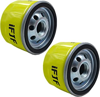 iFJF Spin-on Oil Filter Replace 696854, AM125424, 492932, GY20577, 49065-7007 for Briggs & Stratton, JOHN DEERE and KAWASAKI Lawn Mower Engines(Pack of 2)