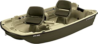 Sun Dolphin Pro 102 Fishing Boat (Cream/Brown, 10.2-Feet)