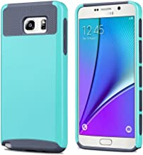 Galaxy Note 5 Case,Lantier TUFF Cute Armor 2 in 1 Dual layer Hybrid Hard Shockproof Cover for Samsung Galaxy Note 5 Mint Green + Gray