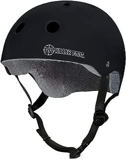 187 Killer Pads Pro Skate Helmet w/Sweatsaver Liner (Size M, Black Matte)