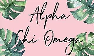 Alpha Chi Omega - Sorority Letter Flag (Tropical Design)