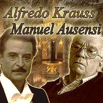 Alfredo Kraus y Manuel Ausensi