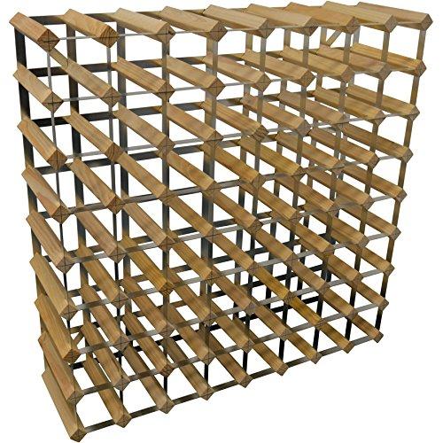 Weinregal für 72 Flaschen - Fertig montiert - Helles Holz