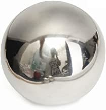LOVIVER Pack of 4 Golden Stainless Steel Gazing Ball Seamless Mirror Balls Sphere Hollow for Outdoor Garden 76~120mm//3~5inch