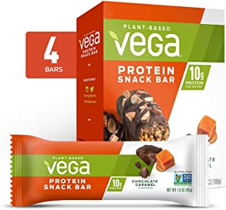 vega protein + snack bar chocolate caramel