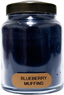 A Cheerful Giver Blueberry Muffins Baby Jar Candle, 6-Ounce, 6oz, Red