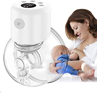 Sponsored Ad - TENDENZA Wearable Electric Breast Pump, Hands Free Portable Breastfeeding Pump Silent USB Rechargeable Milk...