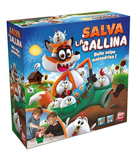 MACDUE Salva La Gallina Gioco Classico Bambino da Tavolo Giocattolo 149, Multicolore, 8001297233470