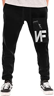 Mens NF Rapper Logo Print Basic Classic Baseball Long Pant Compression Sport Long Pants for Men Black