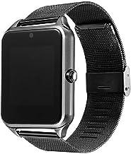 BAIYI Smart Watch Plus Metal Strap Bluetooth Wrist Smartwatch Support Sim TF Card Android&iOS Watch Multi-Languages