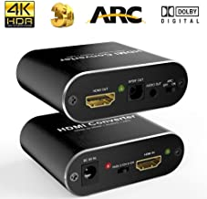 HDMI Audio Extractor 4K 60Hz 5.1 ARC HDMI to Audio Optical Toslink SPDIF Audio 3.5MM Audio Stereo Audio Converter Adapter Support ARC 3D PS4 Pro Roku Xbox One Etc